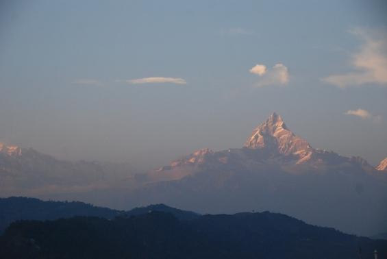 The Annapurna mountain range at sunset / Photo by Helinä Piik
