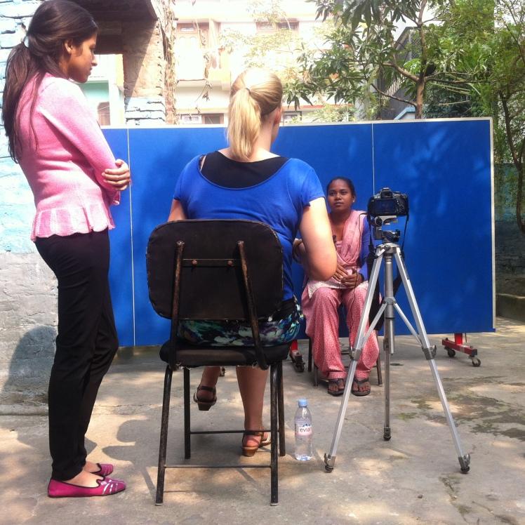 Recording the ideas in Birgunj, Nepal. Photo by Sudeep Shakya.